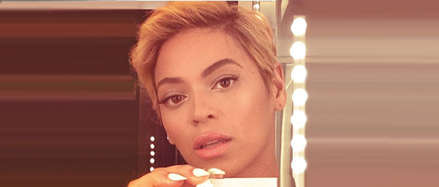 Pixie blonde hair for Beyonce