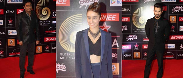 Shahid Kapoor and Shraddha Kapoor at GIMA Awards 2015