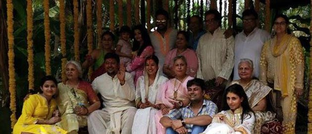 Abhishek Bachchan and Aishwarya Rai spotted at a family wedding