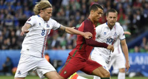 Cristiano Ronaldo hits out at 'small time' Iceland in Euro draw.