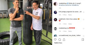 Vivek Dahiya Sweats It Out At The Gym With His Father